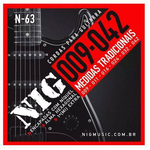 Encordoamento Guitarra Nig N63 009/.042 Tradicional