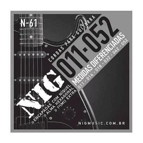 Encordoamento Guitarra Nig N61 0.11 - 0.52 Tradicional