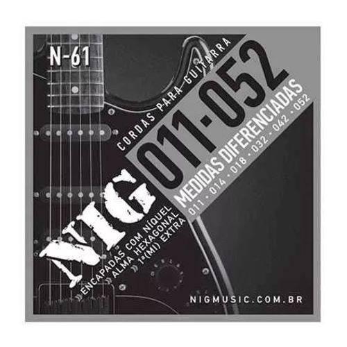 Encordoamento Guitarra Nig N61 011/.052 Tradicional