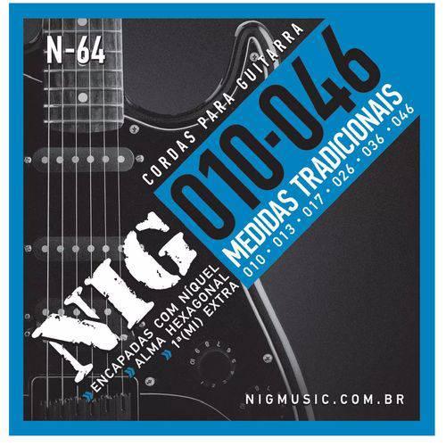 Encordoamento Guitarra Nig N64 010/.046 Tradicional