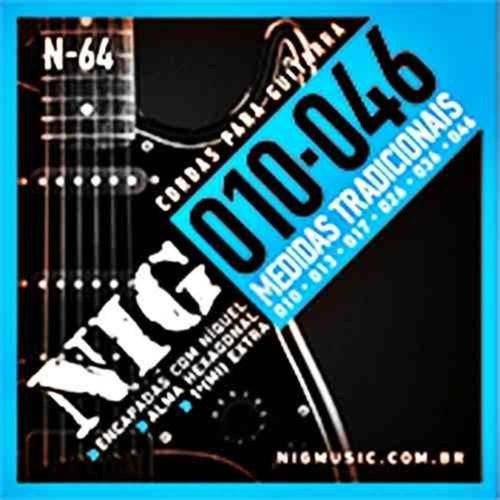 Encordoamento Guitarra Nig N64 010 Extra