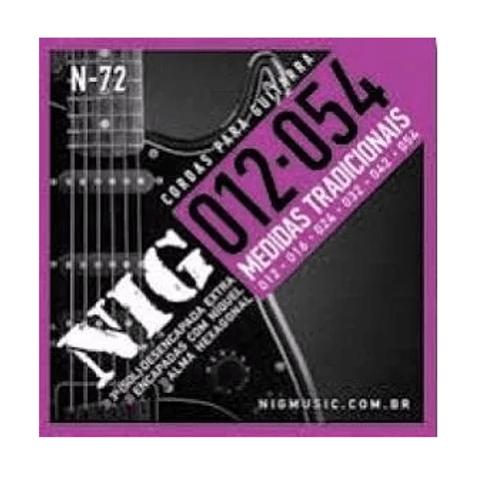 Encordoamento Guitarra Nig N72 0.12 - 0.54 Tradicional