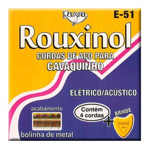 Encordoamento Inox Cavaquinho com Bolinha .011-.028- Rouxinol