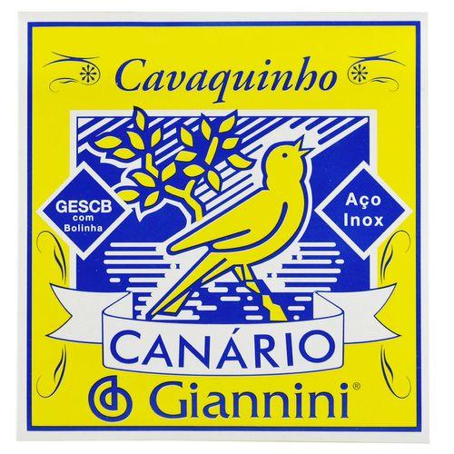 Encordoamento Inox Cavaquinho com Bolinha - Giannini