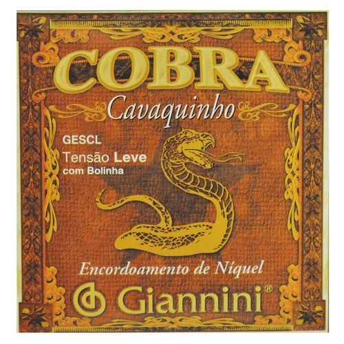 Encordoamento Inox Cavaquinho com Bolinha Tensão - Giannini