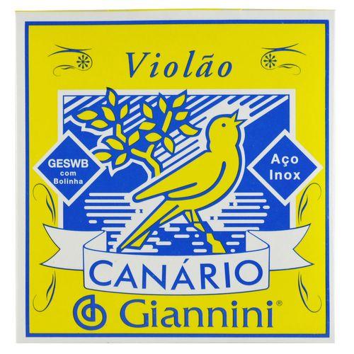 Encordoamento Inox Violão com Bolinha - Giannini