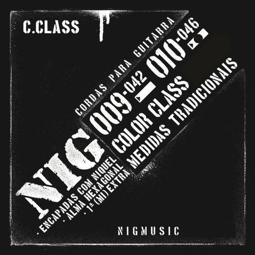 Encordoamento Nig Color Class Preto 010 046 para Guitarra N1640