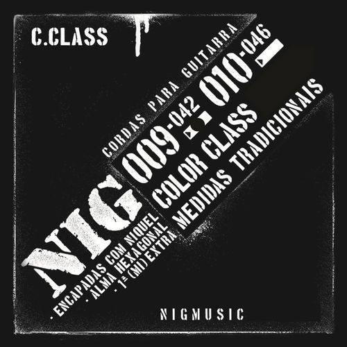 Encordoamento Nig Color Class Preto 09 042 para Guitarra N1630