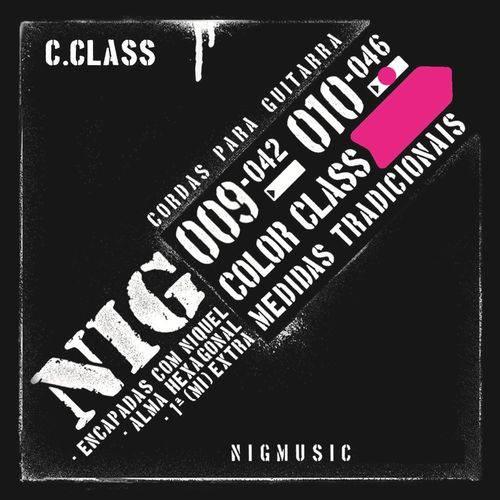 Encordoamento Nig Color Class Rosa 010 046 para Guitarra N1645
