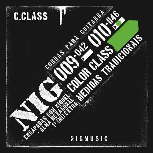 Encordoamento Nig Color Class Verde 010 046 para Guitarra N1644