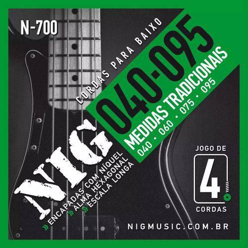 Encordoamento Nig Contrabaixo 4 Cordas 040/095 N700