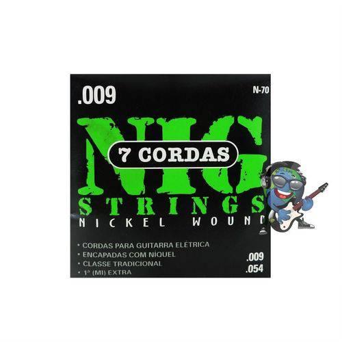 Encordoamento Nig Guitarra de 7 Cordas 009 - 054 N70