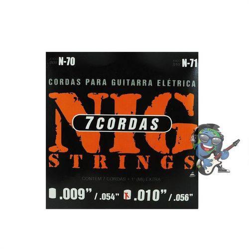 Encordoamento Nig Guitarra de 7 Cordas 010 - 056 N71