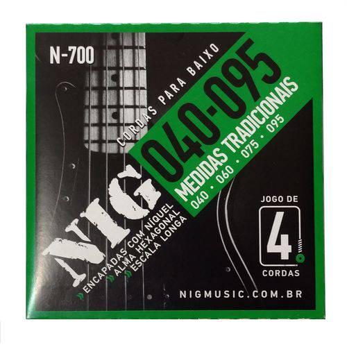 Encordoamento Nig N700 .040 .095 P/ Baixo 4 Cordas