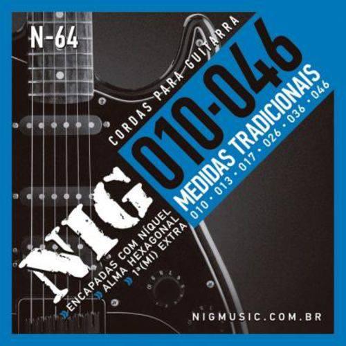 """Encordoamento Nig para Guitarra N-64 - 0.10""""/.046"""""""