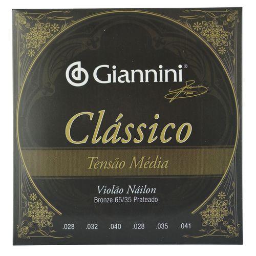 Encordoamento Nylon para Violão Clássico Tensão Média - Giannini