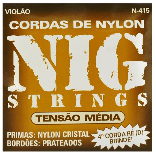 Encordoamento Nylon para Violão com Bordões Prateados - Rouxinol