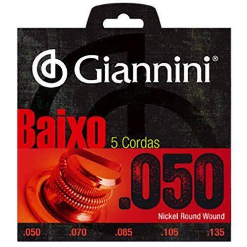 Encordoamento para Baixo 5 Cordas .050-135 Giannini Geebrsx5