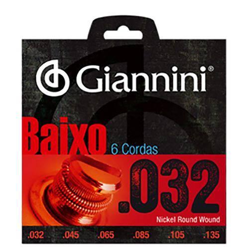 Encordoamento para Baixo 6 Cordas .032-.135 Giannini Geebrs6