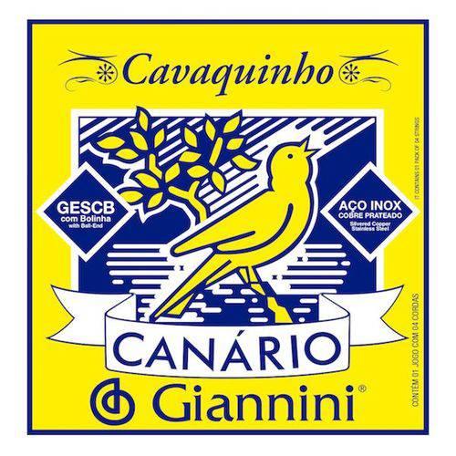 Encordoamento para Cavaquinho Como Bolinha, Série Canário - Gescb Média - Giannini