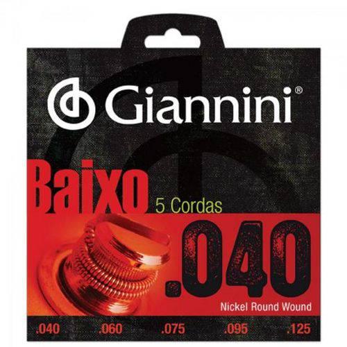 Encordoamento para Contrabaixo 5 Cordas Geebrl 0.40 Giannini