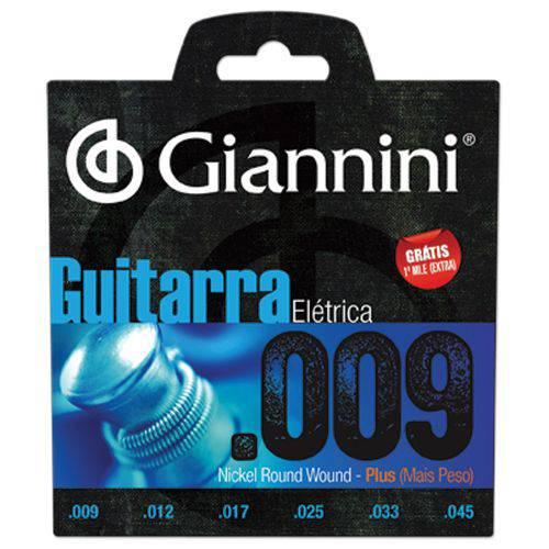 Encordoamento para Guitarra .009-.042 Giannini Geegst9