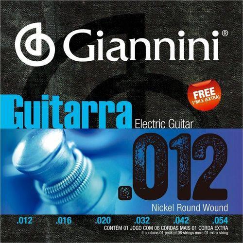 Encordoamento para Guitarra .012-.054 Giannini Geegst12