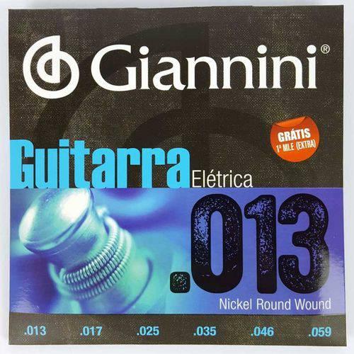 Encordoamento para Guitarra .013-.056 Giannini Geegst13
