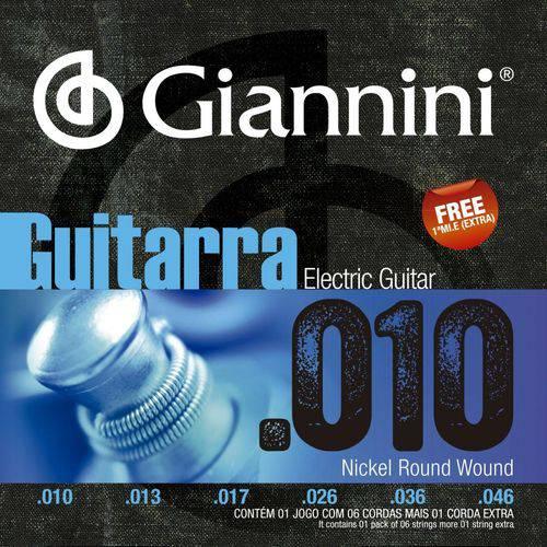 Encordoamento para Guitarra 010 Geegst.10 - Giannini