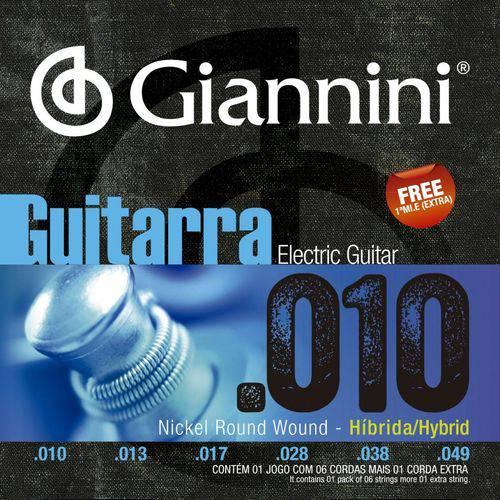 Encordoamento para Guitarra 010 Geegsth.10 - Giannini