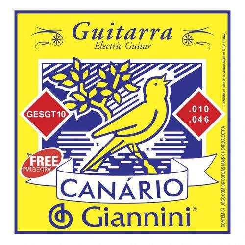 Encordoamento para Guitarra 010 Gesgt10 - Canário