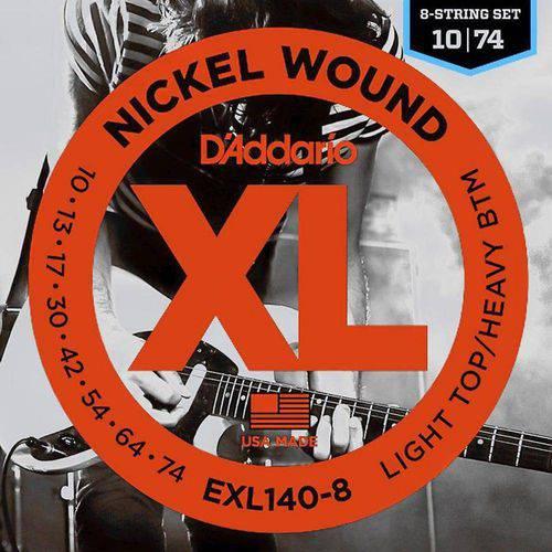 Encordoamento para Guitarra 8 Cordas 10-74 Daddario Exl140-8