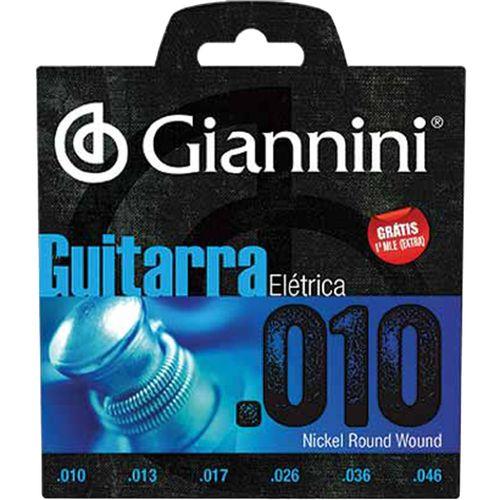 Encordoamento para Guitarra Elétrica Geegst 10 GIANNINI