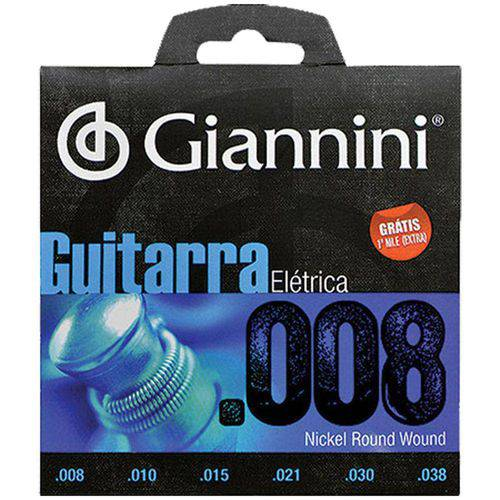 Encordoamento para Guitarra Elétrica Geegst 8 Giannini