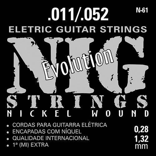 Encordoamento para Guitarra Elétrica N61 - 010´ - - Indústria e Comércio Rouxinol Ltda