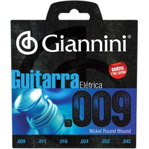 Encordoamento para Guitarra Geegst9 Super Leve 0.09 - Giannini
