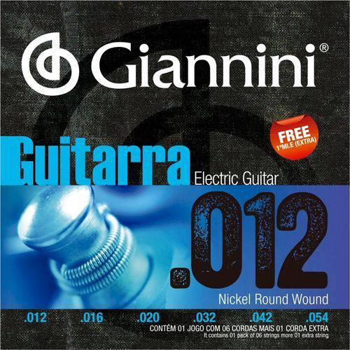 Encordoamento para Guitarra Giannini 012 054 GEEGST12