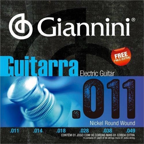 Encordoamento para Guitarra Giannini 011 049 GEEGST11