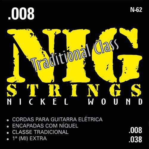 Encordoamento para Guitarra Nig 008/038 N62