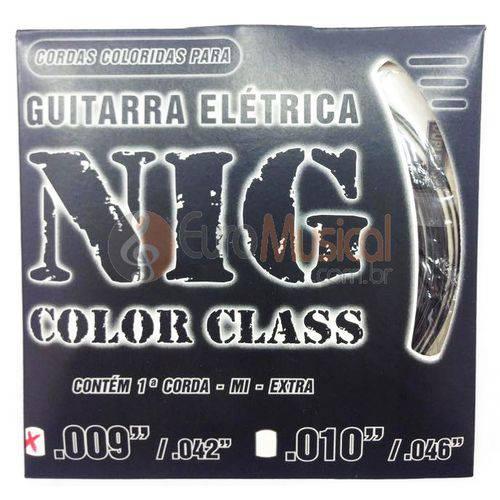 Encordoamento para Guitarra Nig Color Class N1630 Preto .009/042