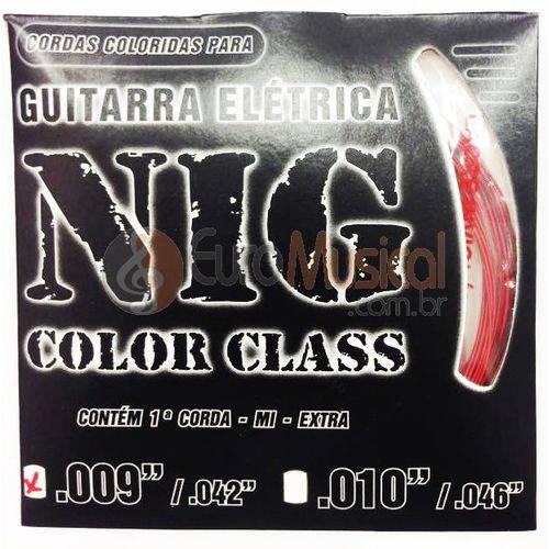 Encordoamento para Guitarra Nig Color Class N1631 Vermelho .009/042