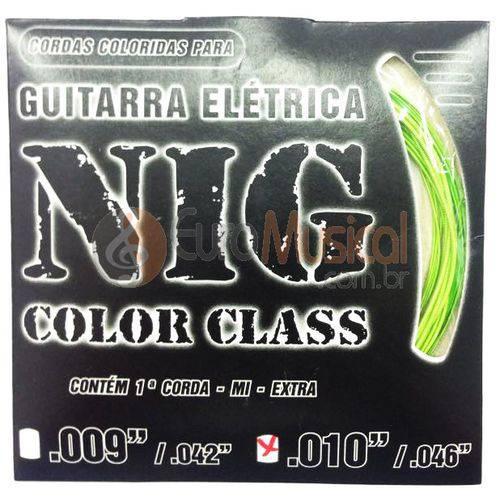 Encordoamento para Guitarra Nig Color Class N1644 Verde .010/046