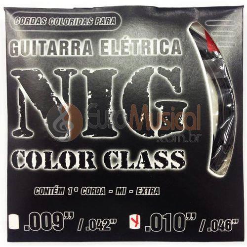 Encordoamento para Guitarra Nig Color Class N1645 Preta .010/046