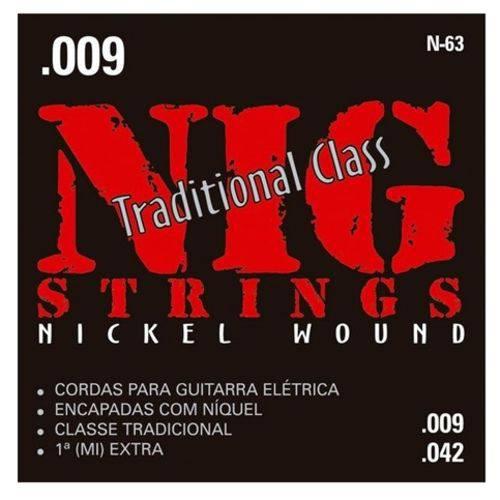 Encordoamento para Guitarra NIG N-63 (.009-.042)