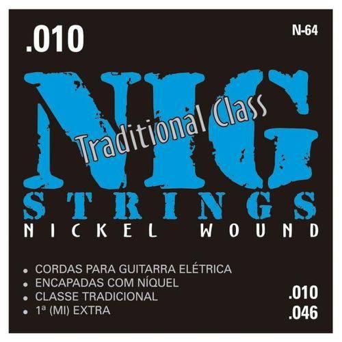 Encordoamento para Guitarra NIG N-64 (.010-.046)