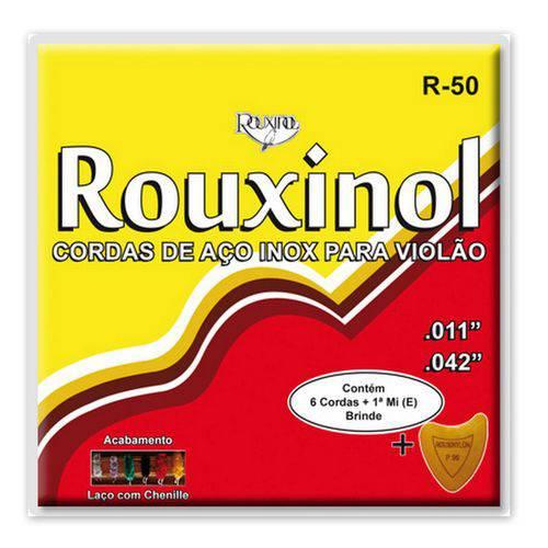 Encordoamento para Violão Aço Chenille Rouxinol R-50