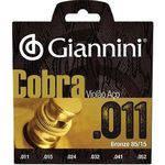 Encordoamento para Violão Aço Cobra .011 Bronze Geeflk