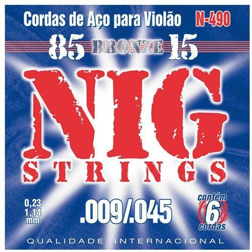 Encordoamento para Violão Aço NIG N-490 Bronze (.009-.045)