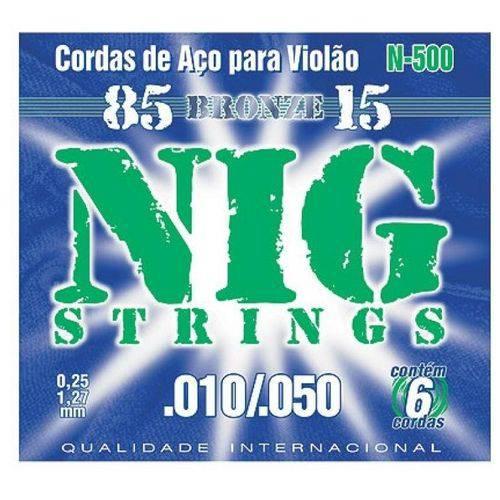 Encordoamento para Violão Aço NIG N-500 Bronze (.010-.050)