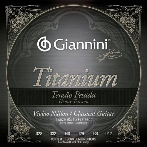 Encordoamento para Violão de Náilon, Série Titanium, Tensão Pesada, Bronze 85/15 Genwta - Giannini